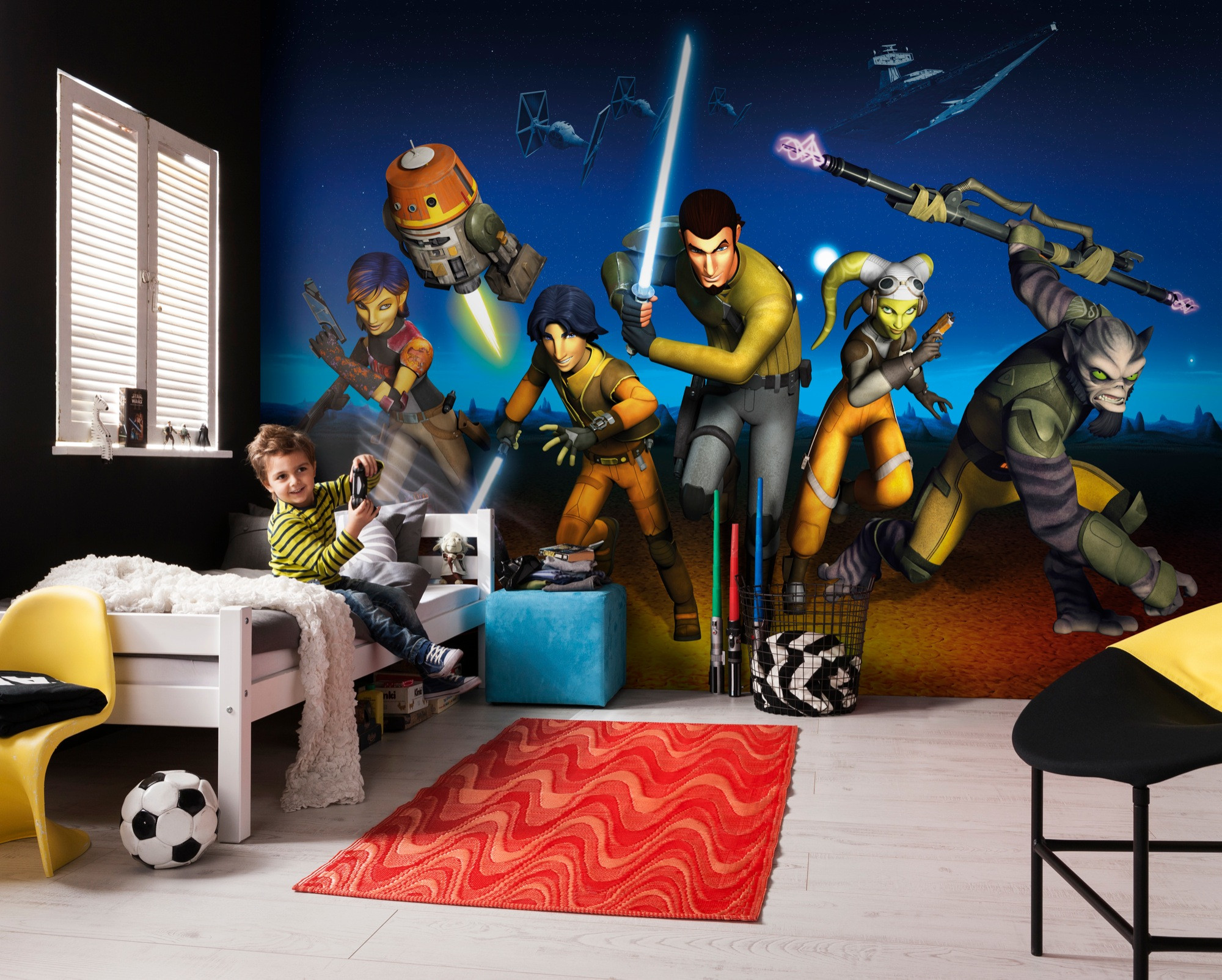 fototapete star wars rebels run von komar. Black Bedroom Furniture Sets. Home Design Ideas