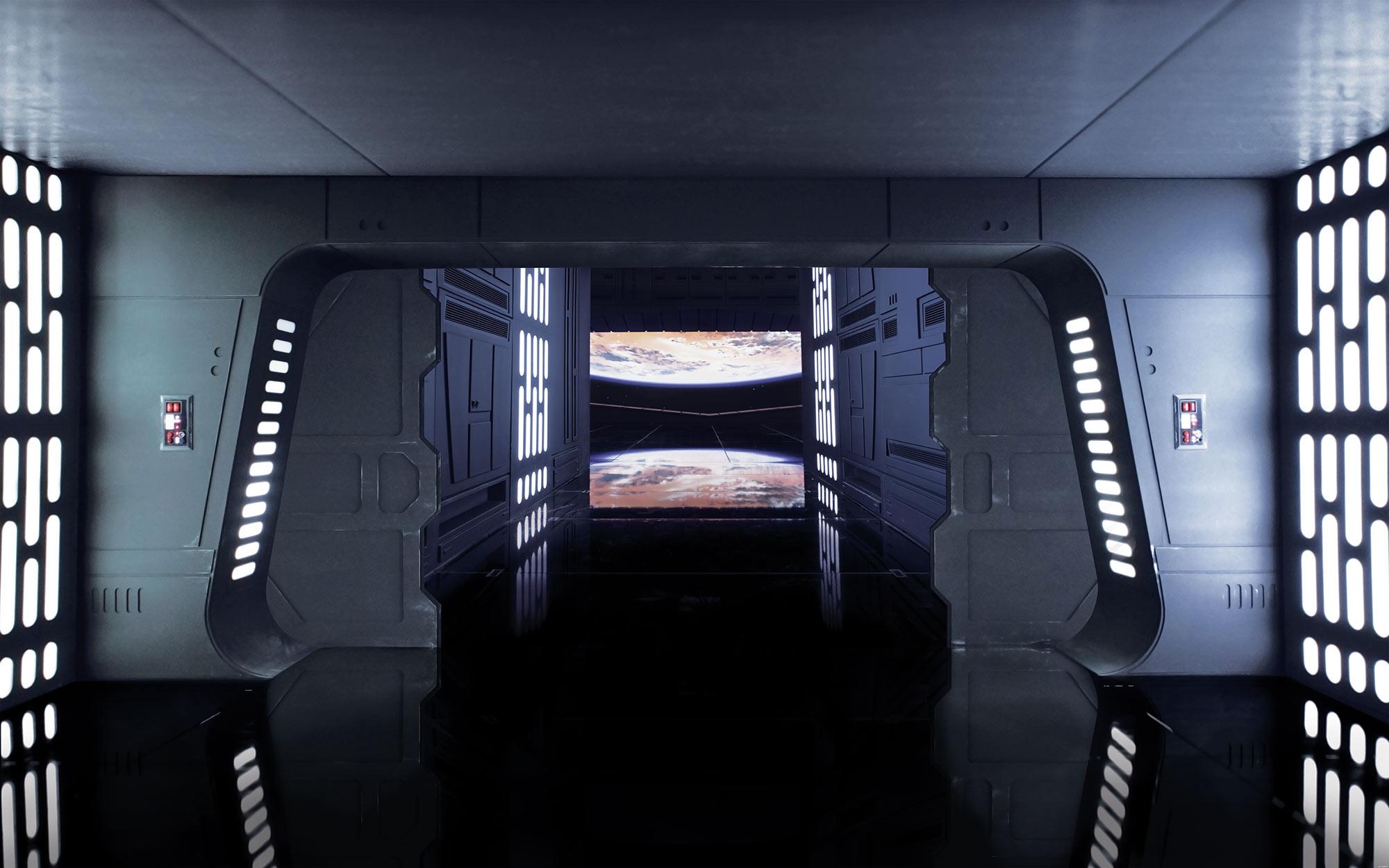 Vliestapete Star Wars Death Star Floor Quot Von Komar