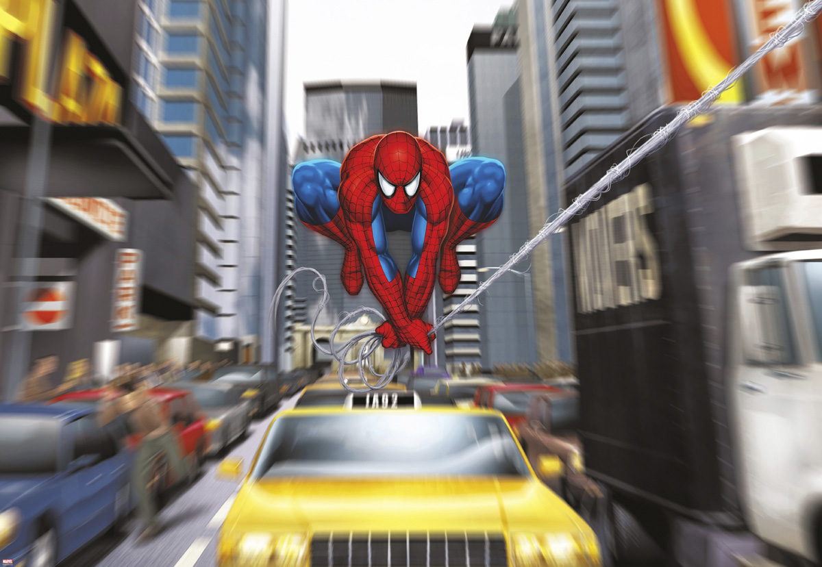 "Fototapeten National Geographic : National Geographic und Melli Mello. Fototapete ""Spider-Man Rush Hour"
