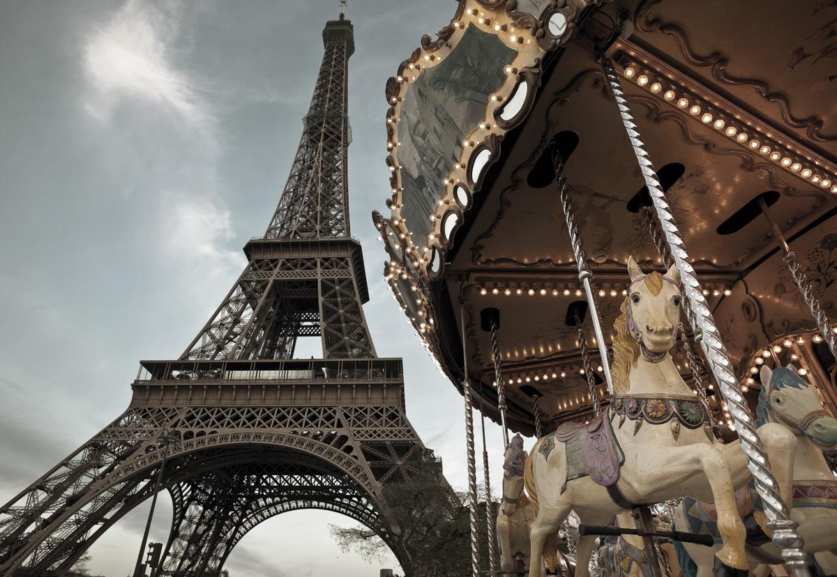 "Fototapeten National Geographic : National Geographic und Melli Mello. Fototapete ""Carrousel de Paris"