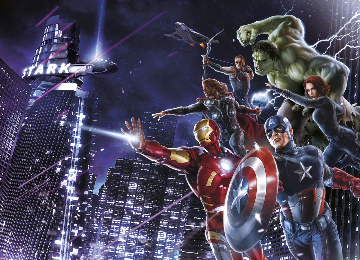 "Fototapeten National Geographic : National Geographic und Melli Mello. Fototapete ""Avengers Citynight"