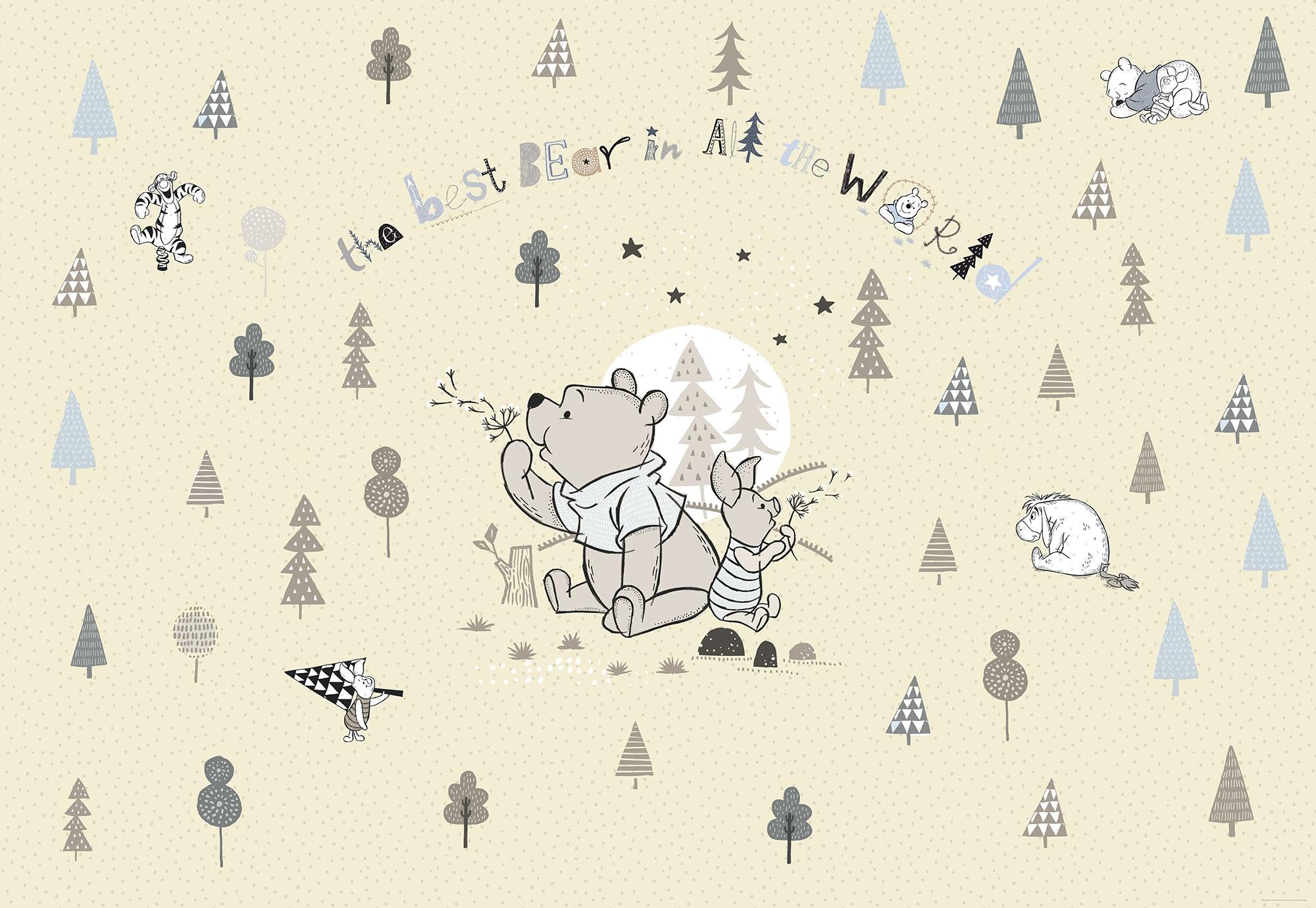 fototapete winnie pooh best bear von disney. Black Bedroom Furniture Sets. Home Design Ideas