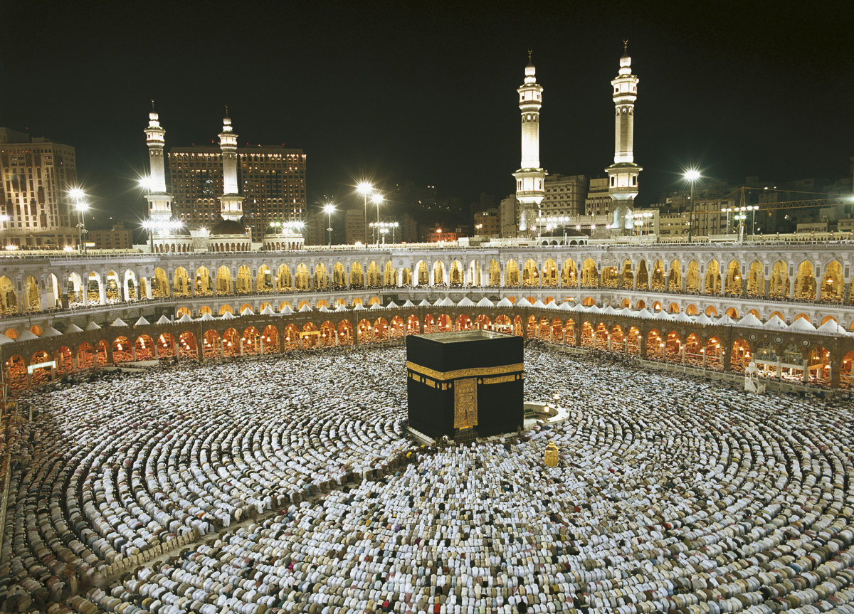 "Fototapeten National Geographic : National Geographic und Melli Mello. Fototapete ""Kaaba at Night"" von"