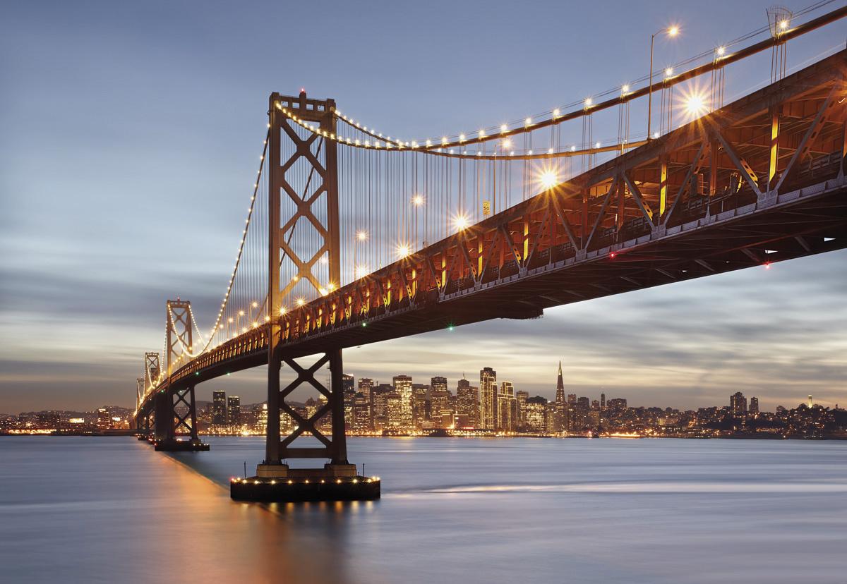 """Fototapeten National Geographic : National Geographic und Melli Mello. Fototapete """"Bay Bridge"""" von Komar"""