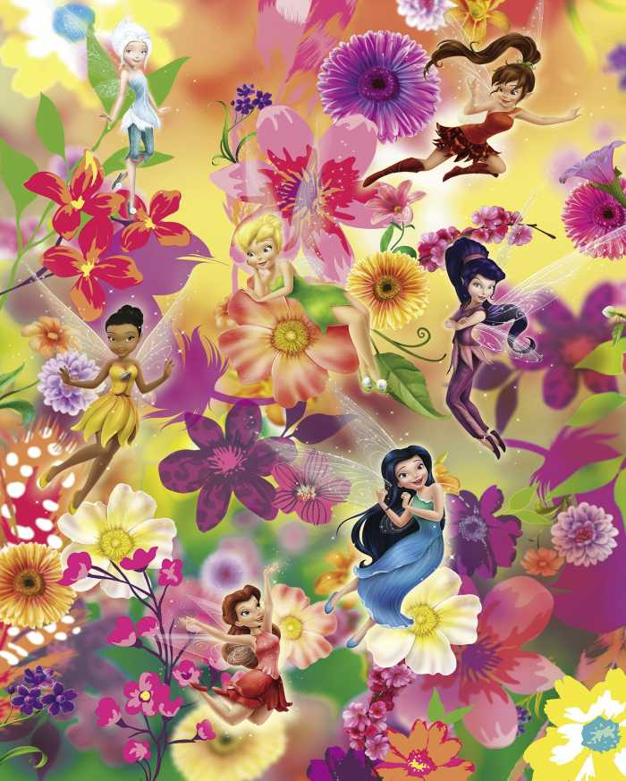 Digitaldrucktapete Fairies Flowers