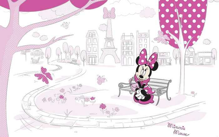 Digitaldrucktapete Minnie in Paris