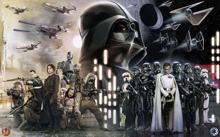 Digitaldrucktapete Star Wars Collage