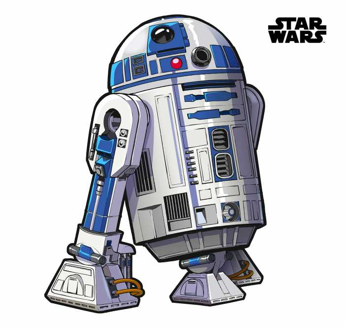 Wandtattoo Star Wars XXL R2D2