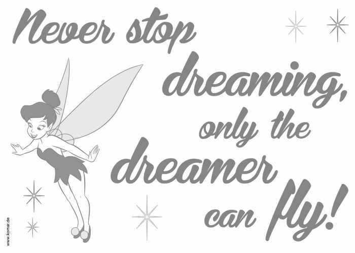 Wandtattoo Never stop dreaming