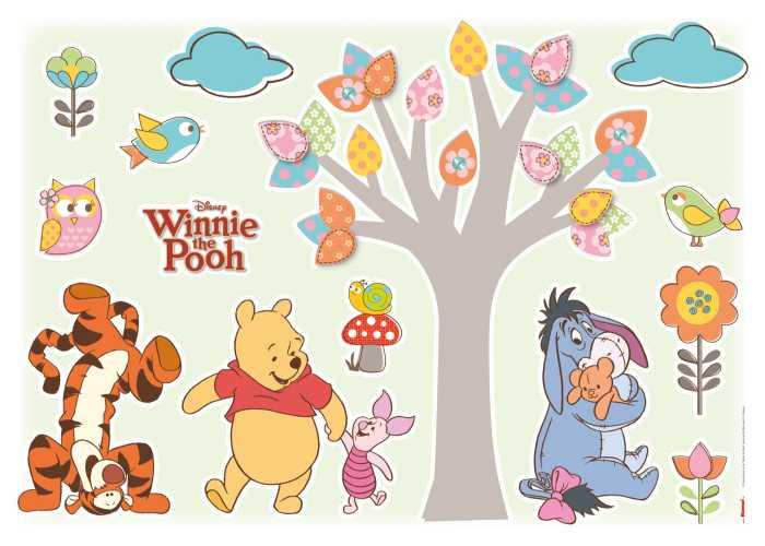 Wandtattoo Winnie Pooh Nature Lovers