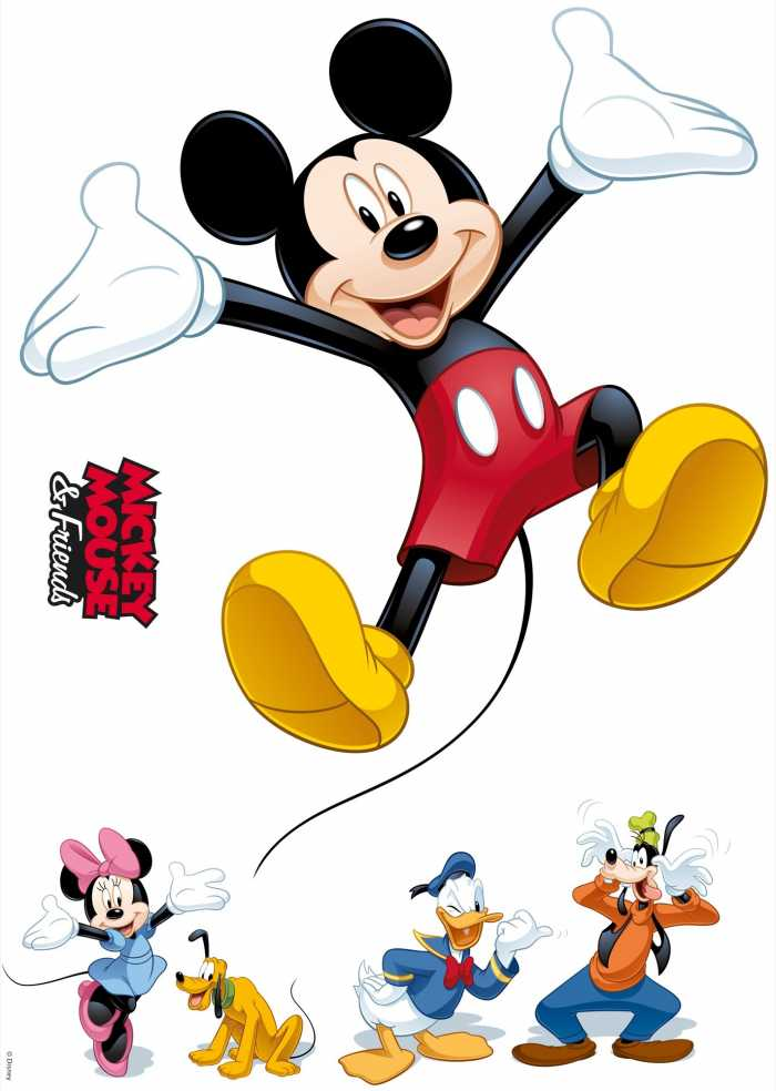 Wandtattoo Mickey and Friends
