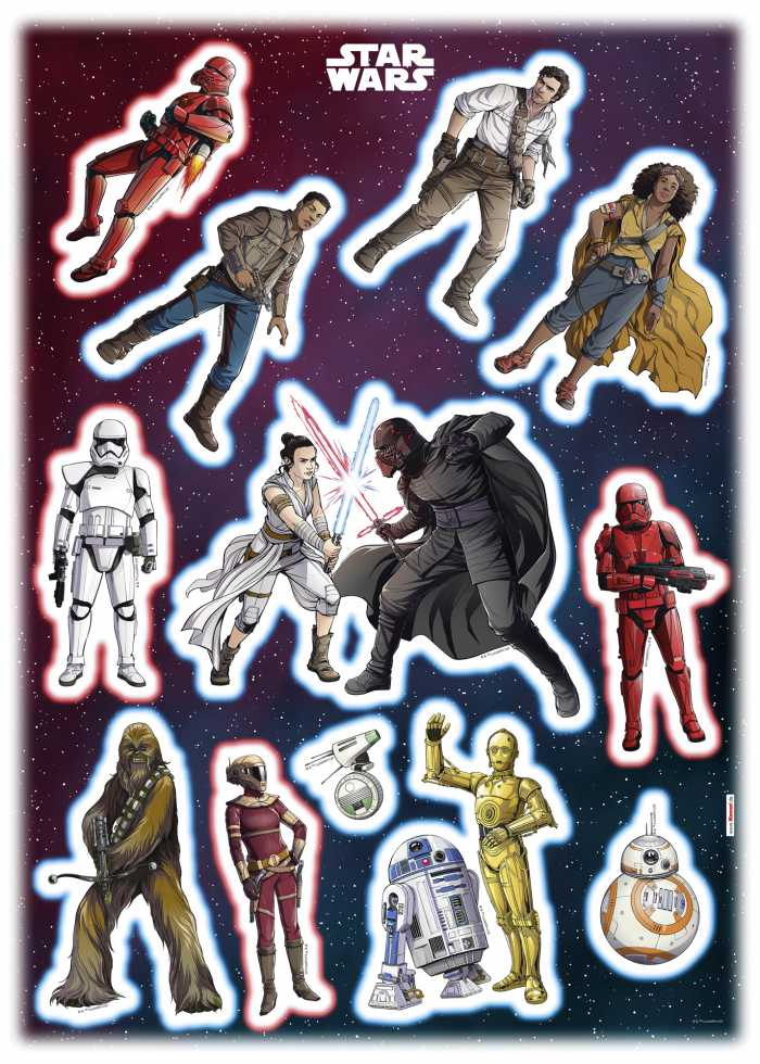Wandtattoo Star Wars Heroes Villains