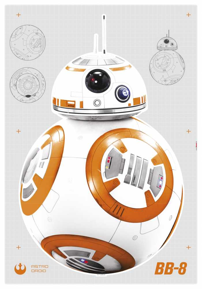 Wandtattoo Star Wars BB-8