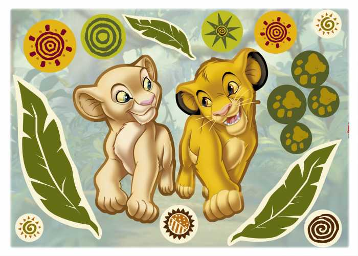 Wandtattoo Simba and Nala