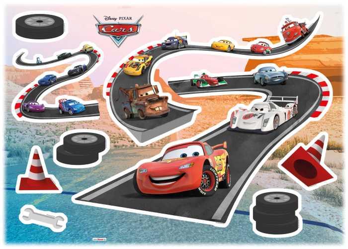 Wandtattoo Cars Track