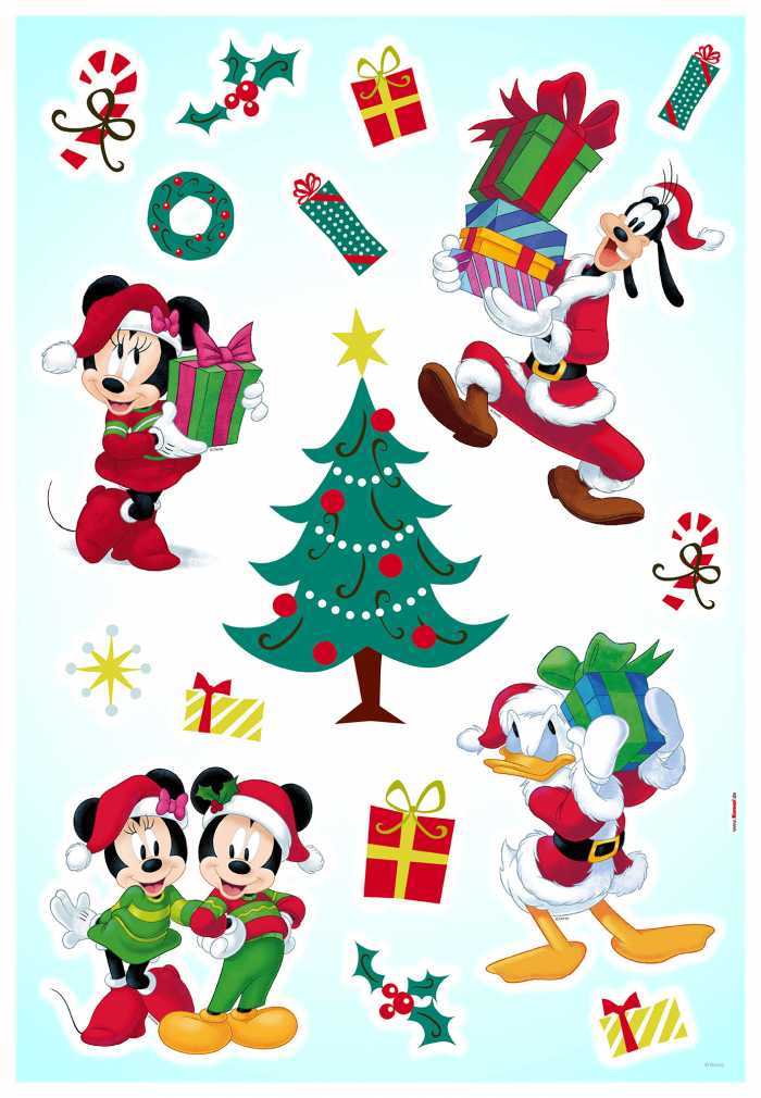 Wandtattoo Mickey Christmas Presents