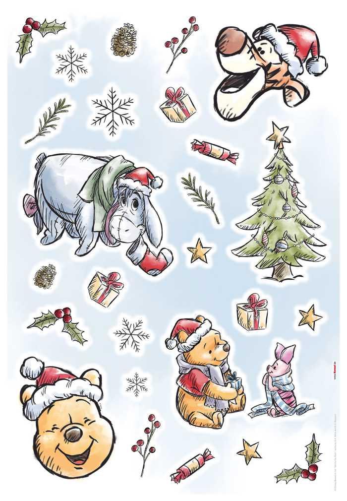 "Wandtattoo Sticker ""Winnie the Pooh Christmas"" in Hülse"