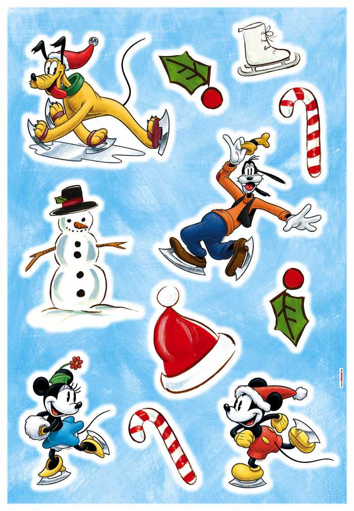 Wandtattoo Mickey Ice slide