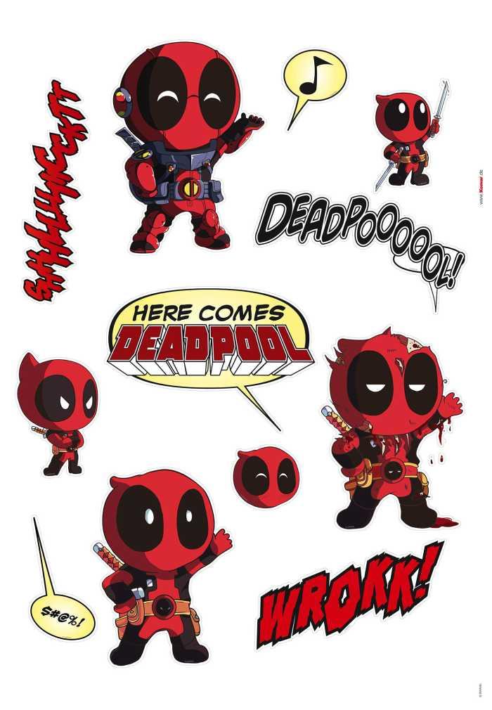 Wandtattoo Deadpool Cute