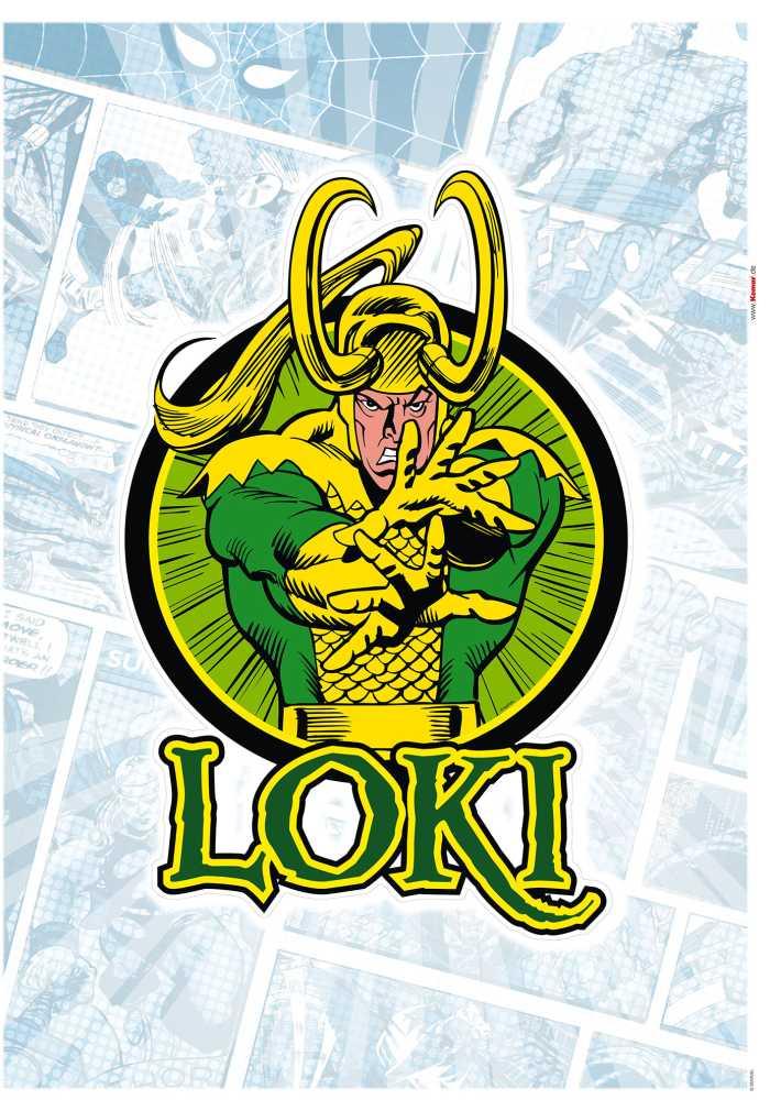 Wandtattoo Loki Comic Classic