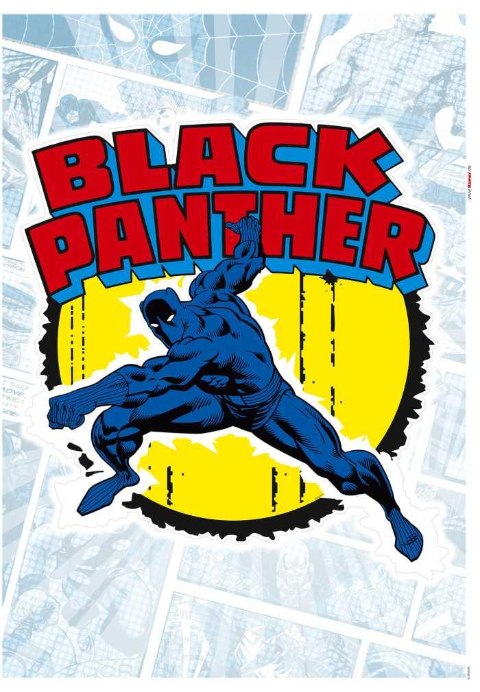 Wandtattoo Black Panther Comic Classic