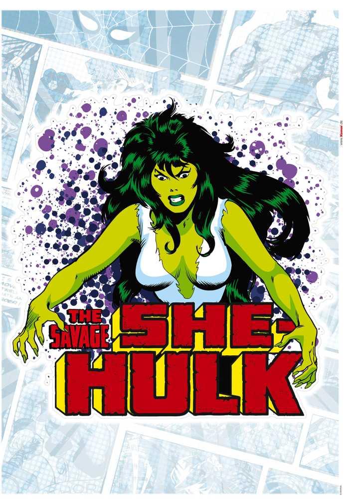 Wandtattoo She-Hulk Comic Classic