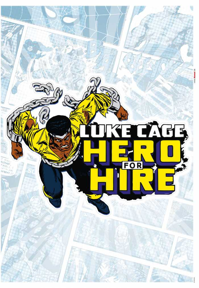 Wandtattoo Luke Cage Comic