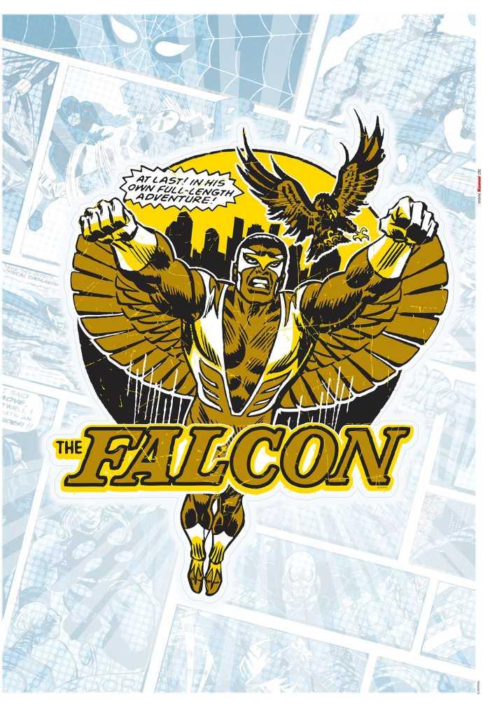 Wandtattoo Falcon Gold Comic Classic