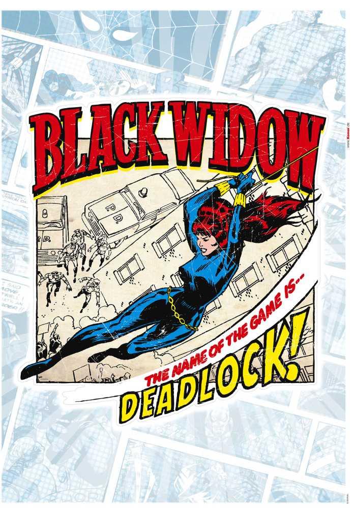Wandtattoo Black Widow Comic Classic