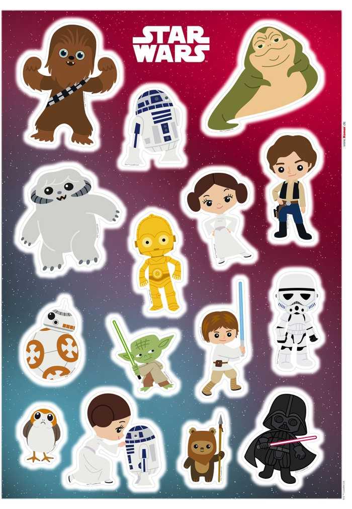 Wandtattoo Star Wars Little Heroes