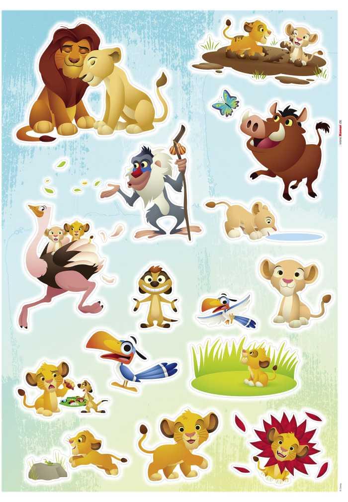 Wandtattoo Lion King Wildlife