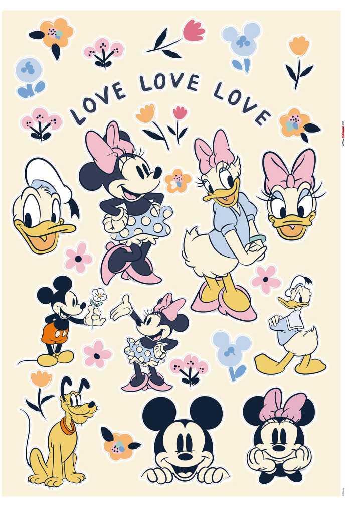 Wandtattoo Love Love Love