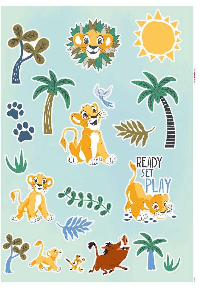 Wandtattoo Lion King Palmtrees