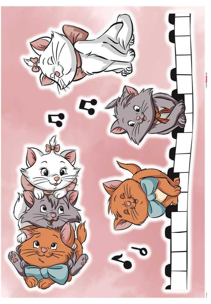 Wandtattoo Aristocats Kittens