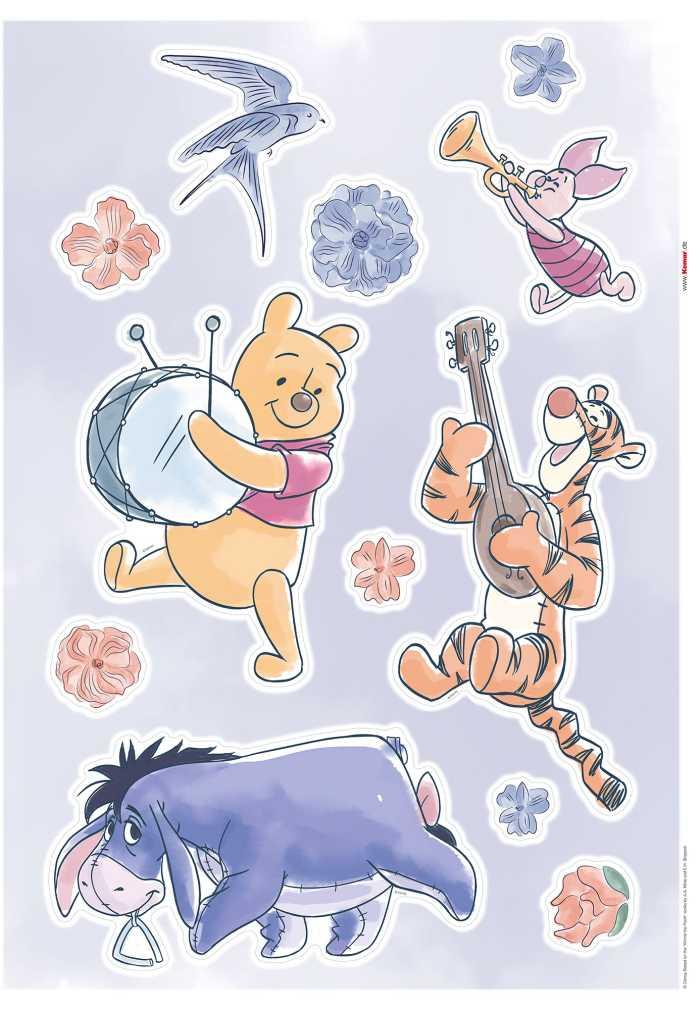 Wandtattoo Winnie the Pooh - Flowers & Music