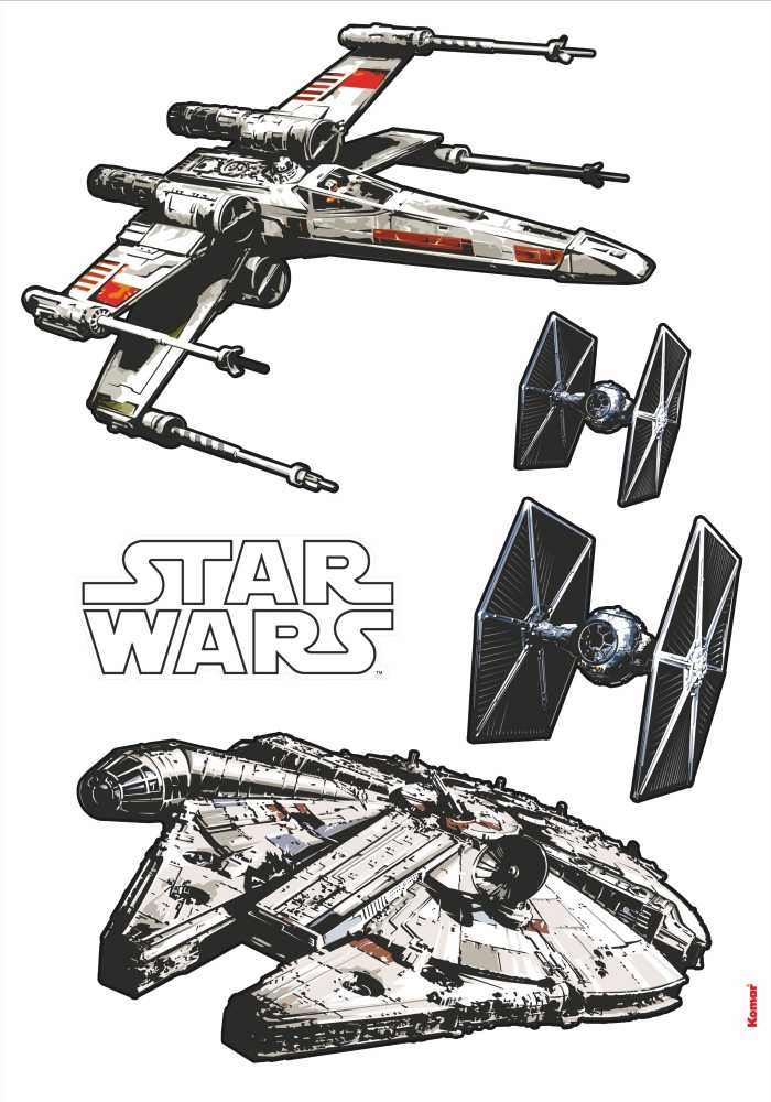 Wandtattoo Star Wars Spaceships
