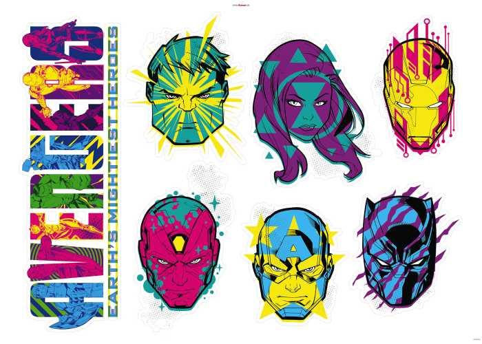 Wandtattoo Avengers Mightiest Heroes