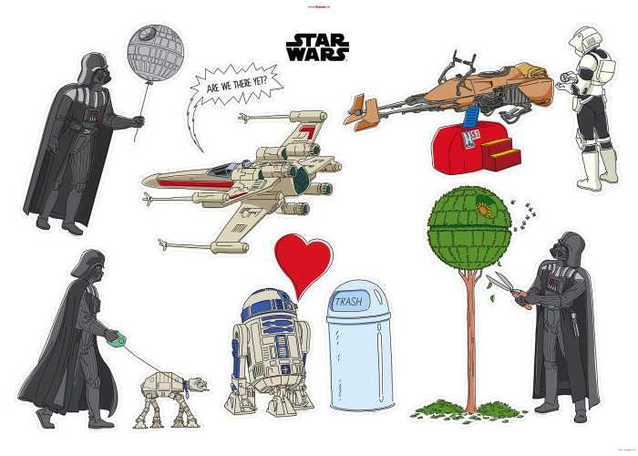 Wandtattoo Star Wars Treatment