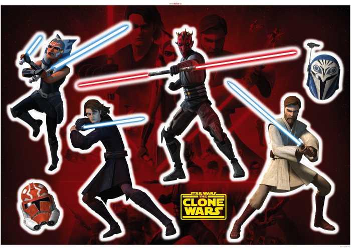 Wandtattoo Clone Wars Showdown