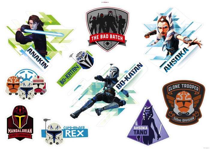 Wandtattoo Clone Wars Badges