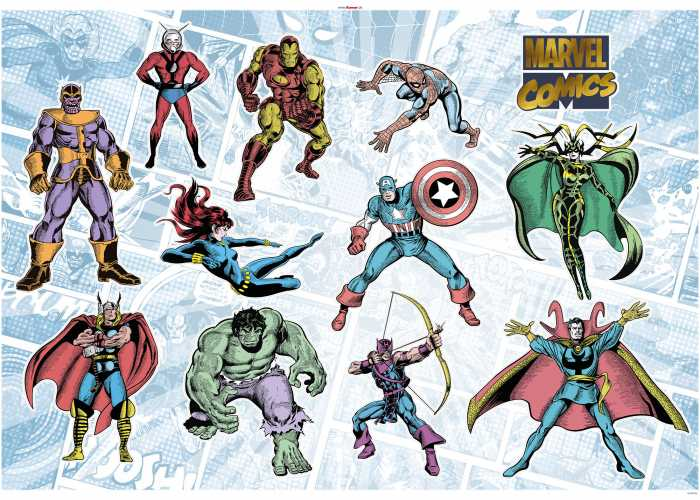 Wandtattoo Marvel Comics Collection