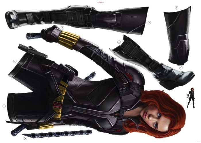 Wandtattoo Black Widow Stand
