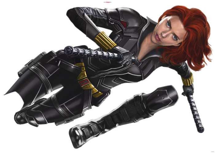 Wandtattoo Black Widow Run