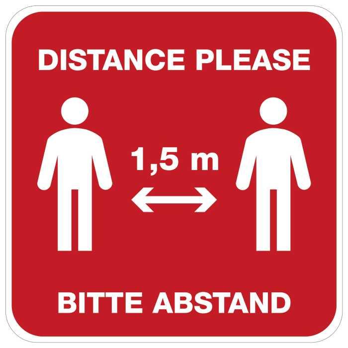 Wandtattoo Distance
