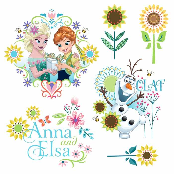 Fenstersticker Frozen Flower