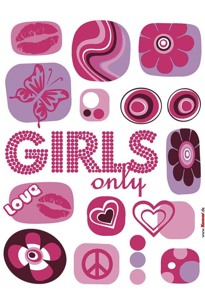 Wandtattoo Girls only