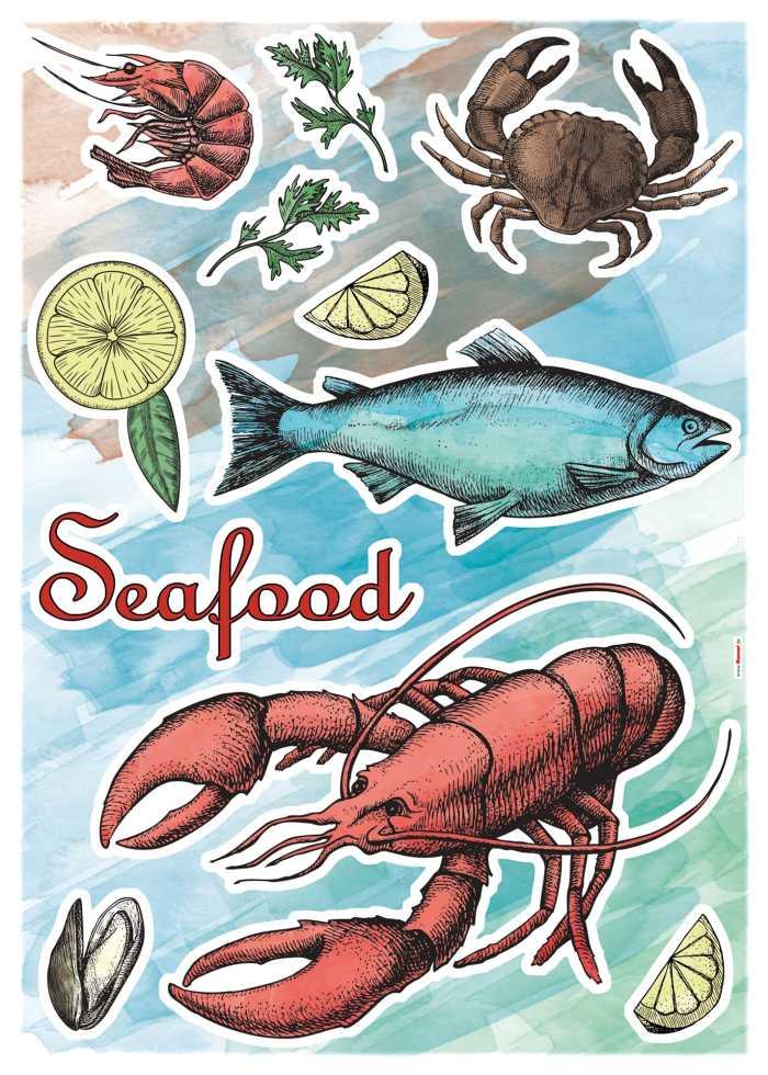 Wandtattoo Seafood
