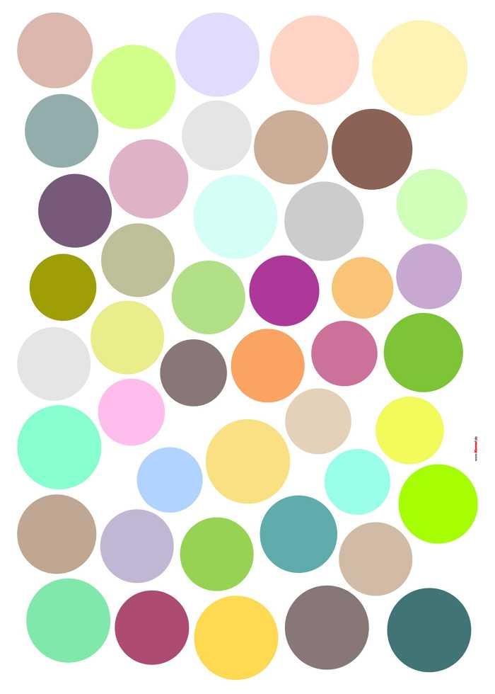 Wandtattoo Dots