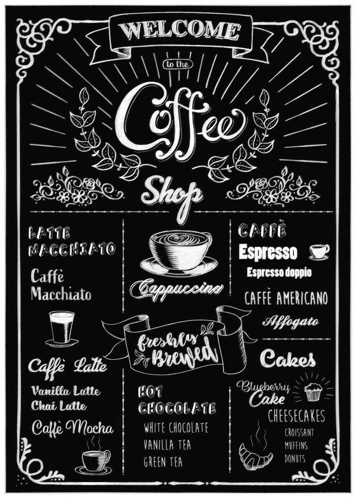 Wandtattoo Coffeeshop