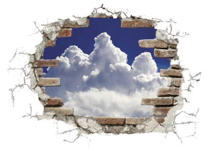 Wandtattoo Break out Clouds